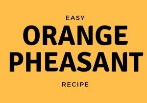 Graphic that says easy orange pheasant recipe
