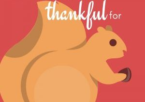 Graphic that says what animals are thankful for