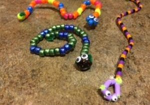 Photo of pipe cleaner snakes