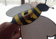 Photo of a bee finger puppet