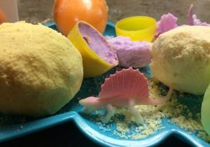 Photo of broken bath bomb eggs