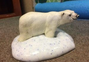 Photo of polar bear in slime